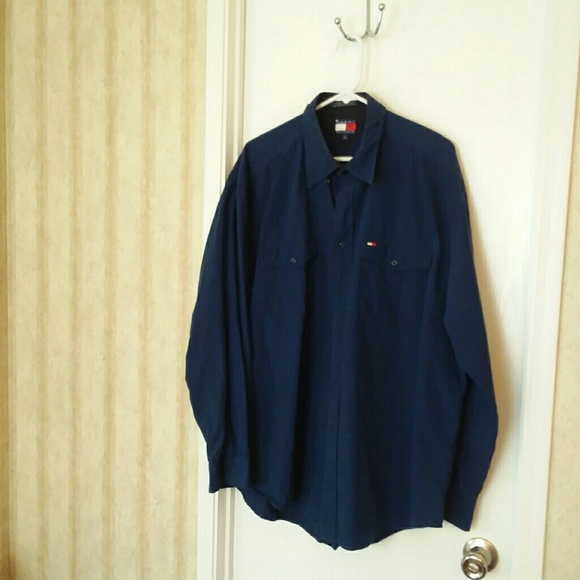 43468ad4 Tommy Hilfiger Navy Blue Checkered Long Sleeve. Tommy Hilfiger.  M_5b93ed06035cf13397df86b6. M_5b93ed1e3c984414c3ade589.  M_5b93ed34aaa5b89e4b3d1844